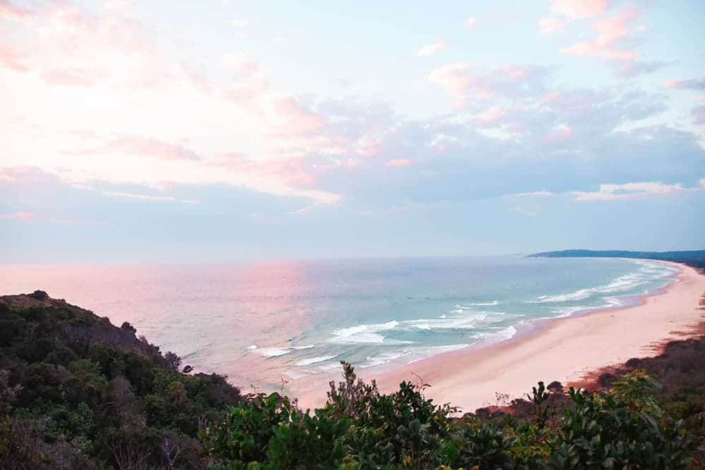 things to do in Byron Bay overlooking Tallows Beach