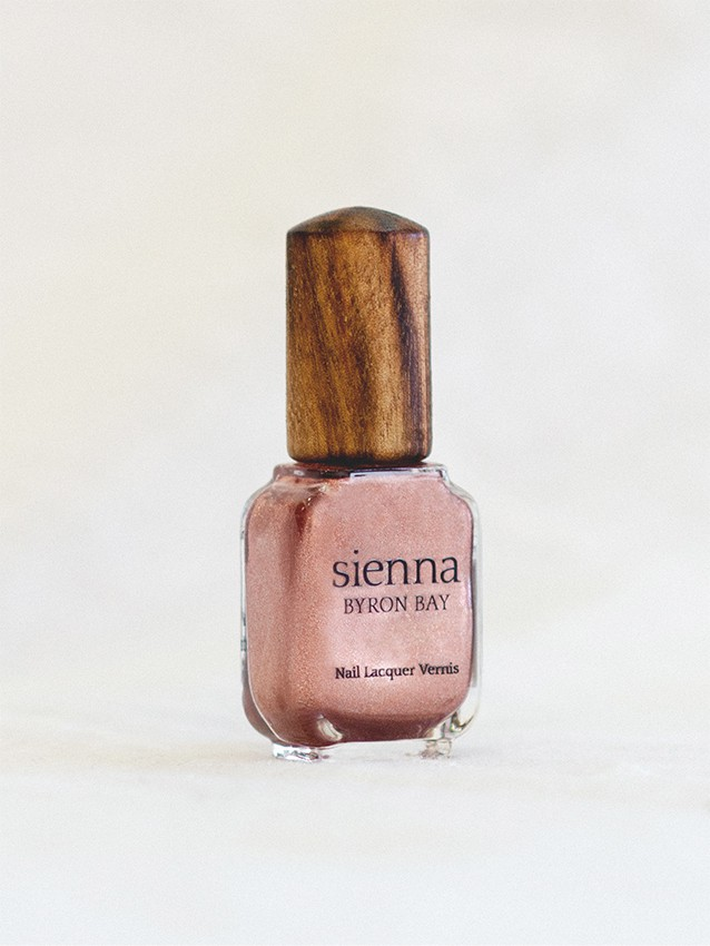 bloom pink shimmer nail polish bottle