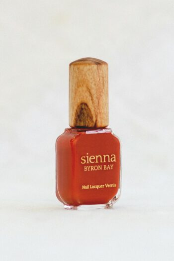 soulful orange nail polish bottle